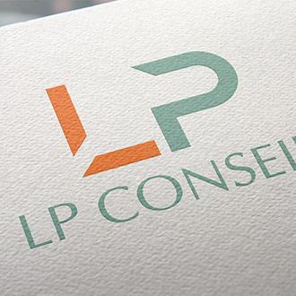 Logo LP Conseils,Infographie Perpignan